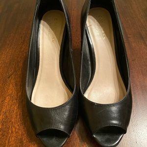Cole Haan Black Peep-Toe pumps